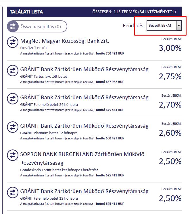 Betét kalkulátor, betétek összehasonlítása | krisztinahaz.hu