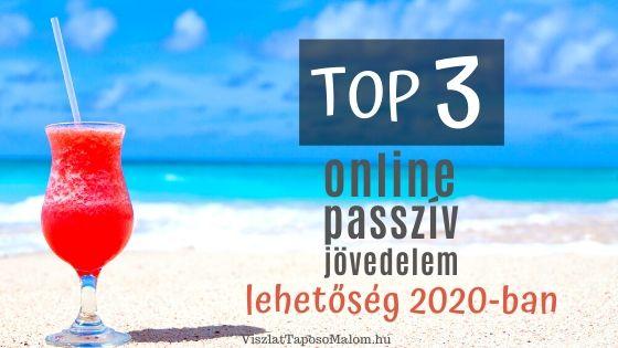 passzív jövedelem az interneten beruházás nélkül 2020